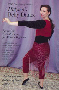 Halyma's Belly Dance DVD 1 cover