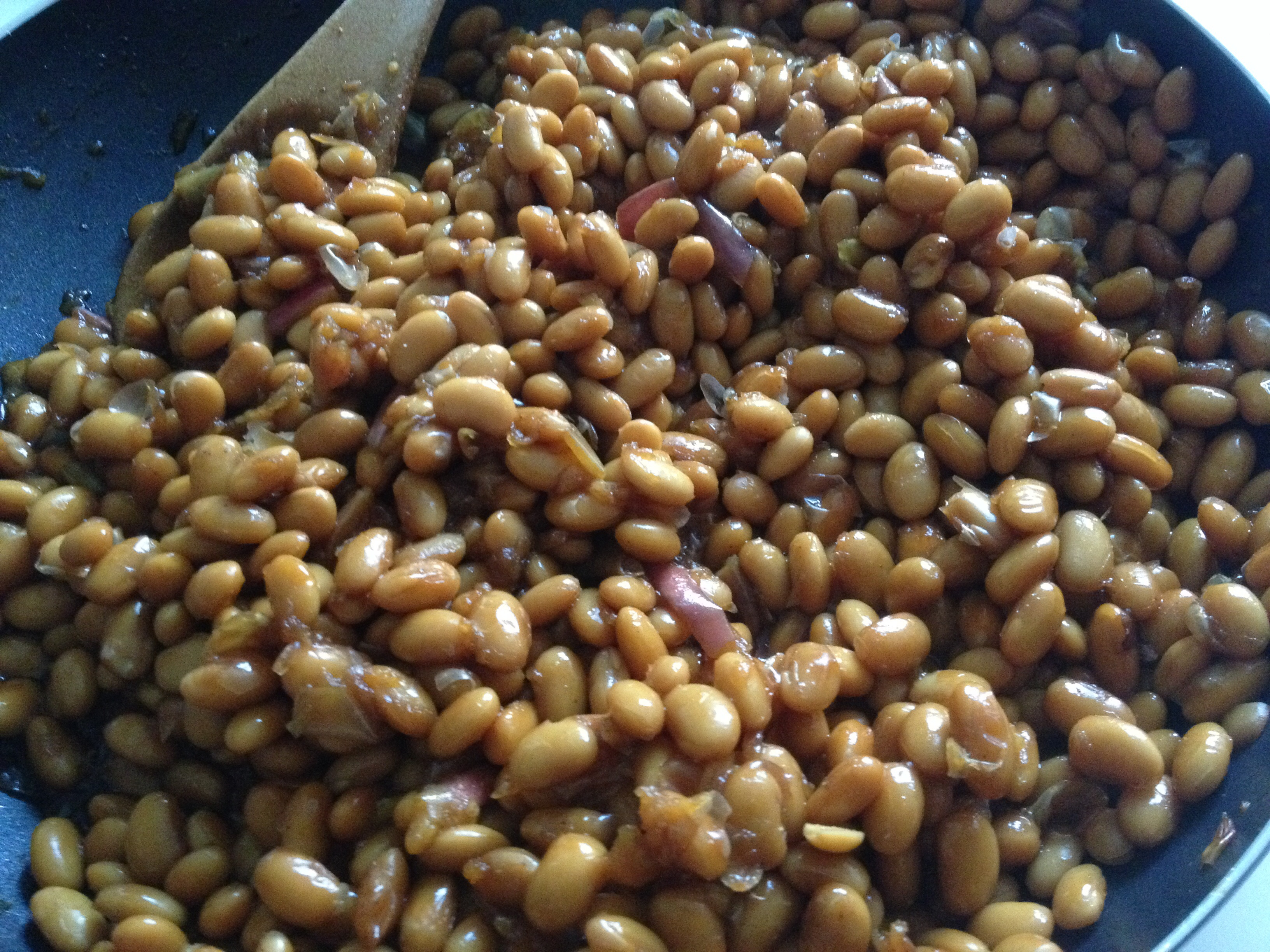 Sweet Soya Beans baking