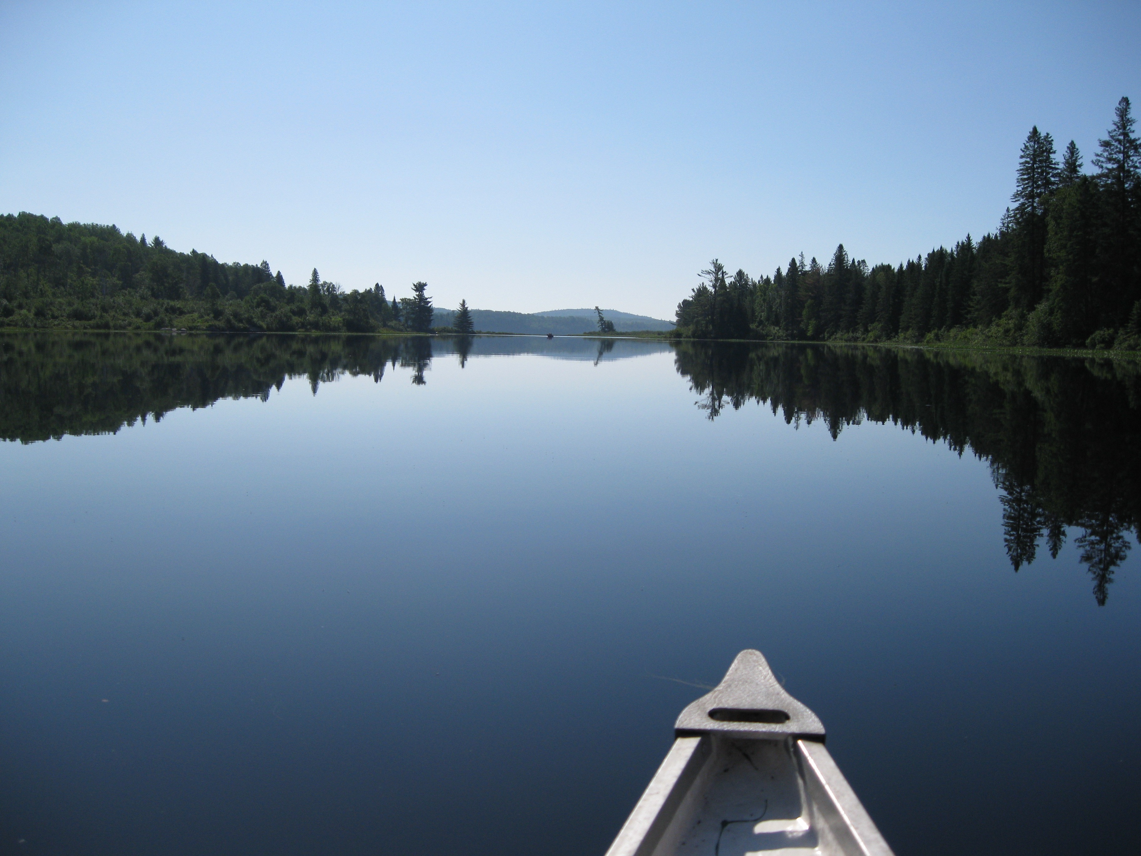 The nose of the canoe
